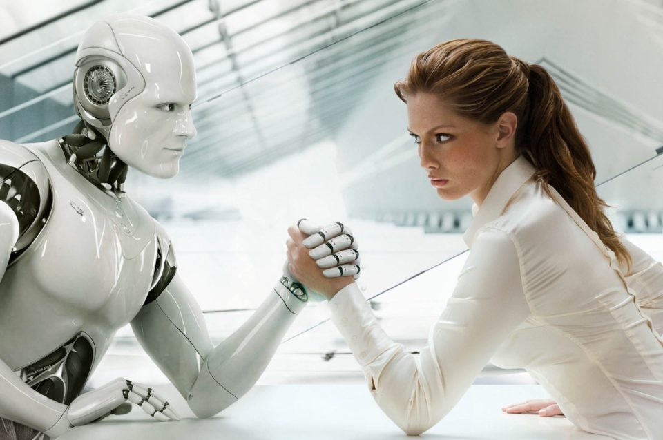 Woman Arm Wrestling Robot